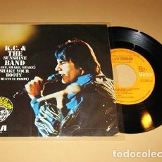 Discos de vinilo: KC AND THE SUNSHINE BAND - SHAKE YOUR BOOTY - SINGLE - 1976. Lote 113104535