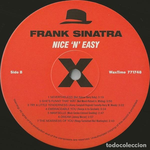 Discos de vinilo: FRANK SINATRA * LP HQ Virgin Vinyl 180g + CD * NICE N EASY * Edición Limitada *Precintado!! - Foto 2 - 113113595