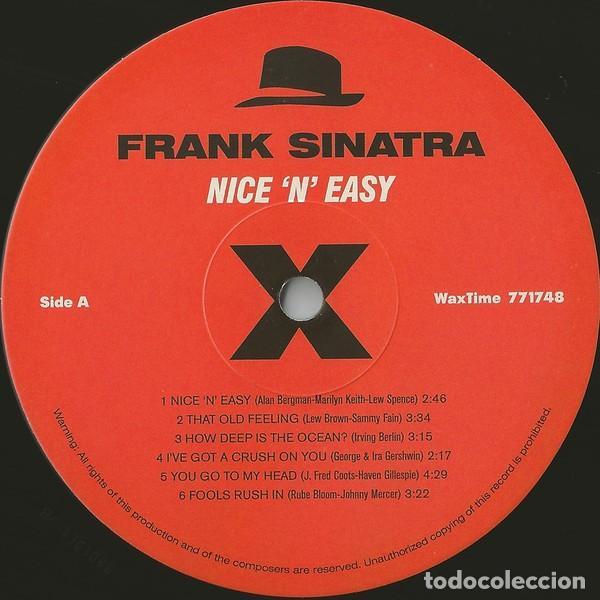 Discos de vinilo: FRANK SINATRA * LP HQ Virgin Vinyl 180g + CD * NICE N EASY * Edición Limitada *Precintado!! - Foto 3 - 113113595