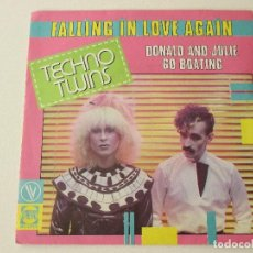 Discos de vinilo: TECHNO TWINS FALLING IN LOVE AGAIN 1981. Lote 113114147