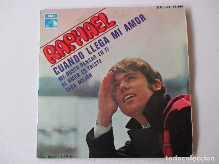 RAPHAEL CUANDO LLEGA MI AMOR + 3 BSO EL GOLFO 1968 (Música - Discos de Vinilo - EPs - Solistas Españoles de los 50 y 60)