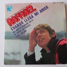 Discos de vinilo: RAPHAEL CUANDO LLEGA MI AMOR + 3 BSO EL GOLFO 1968. Lote 113114991