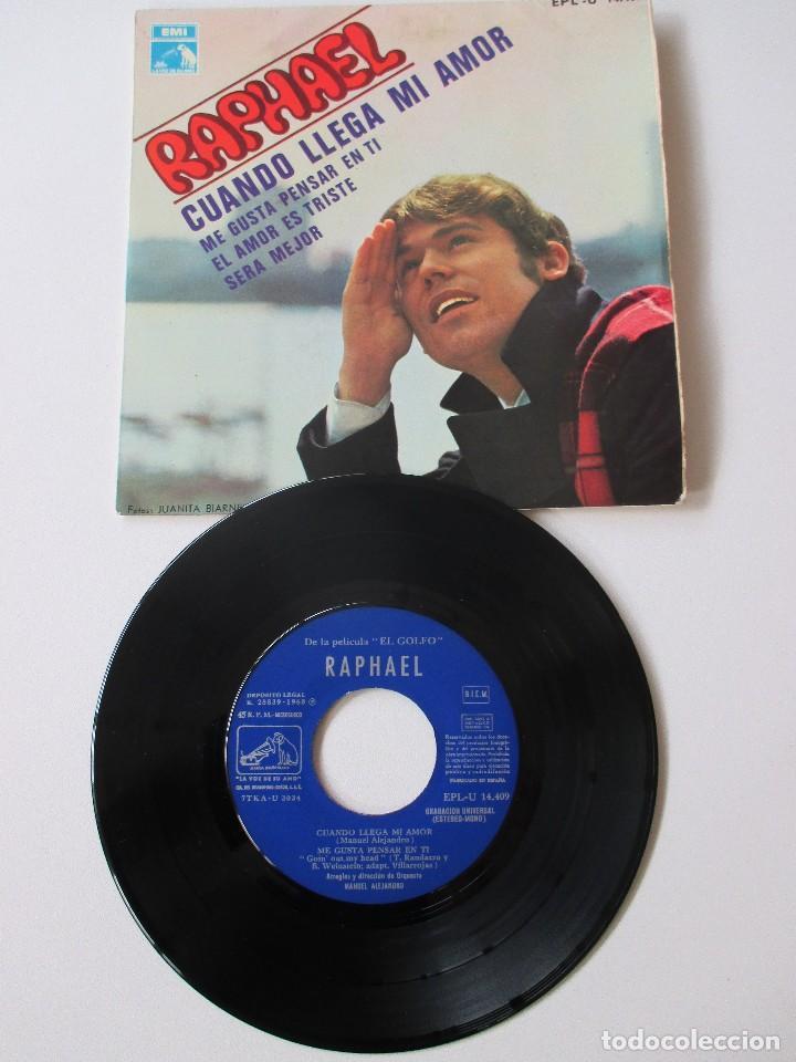 Discos de vinilo: Raphael Cuando llega mi amor + 3 BSO El Golfo 1968 - Foto 3 - 113114991