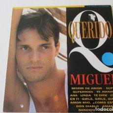 Discos de vinilo: MIGUEL BOSÉ QUERIDO MIGUEL RECOPILATORIO 1993 DON DIABLO LINDA AMANTE BANDIDO SEVILLA SUPER SUPERMAN. Lote 113116095
