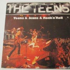 Discos de vinilo: THE TEENS TEENS & JEANS & ROCK´N´ROLL ARIOLA HANSA 1980 CON ENCARTE. Lote 113120931