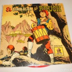 Discos de vinilo: SINGLE. EL TIMBALER DEL BRUCH. CON CÓMIC DESPLEGABLE. DISCO EN ROJO.ODEÓN 1959 SPAIN (PROBADO). Lote 113121575