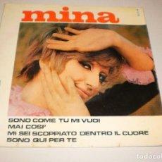 Discos de vinilo: SINGLE MINA. SONO COME TU MI VUOI + 3 TEMAS BELTER 1967 SPAIN (DISCO PROBADO Y BIEN). Lote 113121911