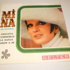 Discos de vinilo: SINGLE MINA. ANGUSTIA. CAMINAREMOS. LA BARCA. SABOR A MÍ. BELTER 1967 SPAIN (DISCO PROBADO Y BIEN). Lote 113122307