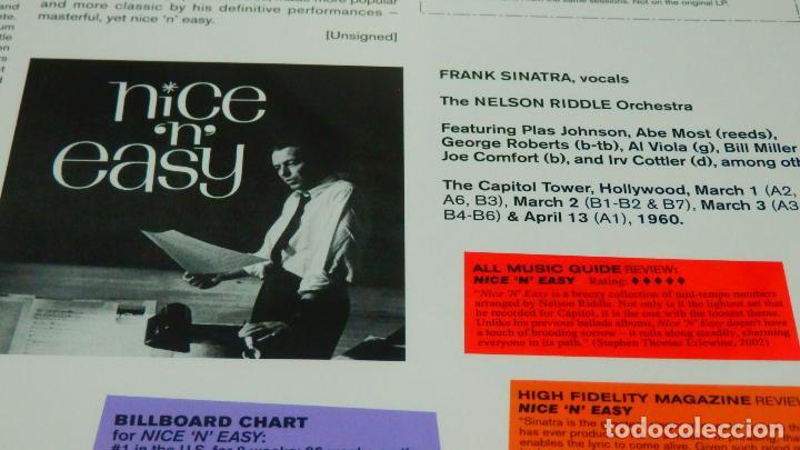 Discos de vinilo: FRANK SINATRA * LP HQ Virgin Vinyl 180g + CD * NICE N EASY * Edición Limitada *Precintado!! - Foto 9 - 113113595