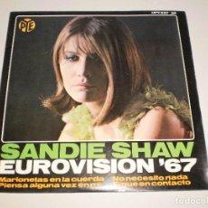 Discos de vinilo: SINGLE SANDIE SHAW. MARIONETAS EN LA CUERDA. EUROVISIÓN 67 HISPAVOX 1967 SPAIN (PROBADO). Lote 113123155