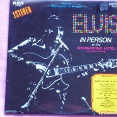 Discos de vinilo: ELVIS PRESLEY,IN PERSON FROM MEMPHIS TO VEGAS EDICION ES`PAÑOLA DEL 70 DOBLE LP. Lote 113133279