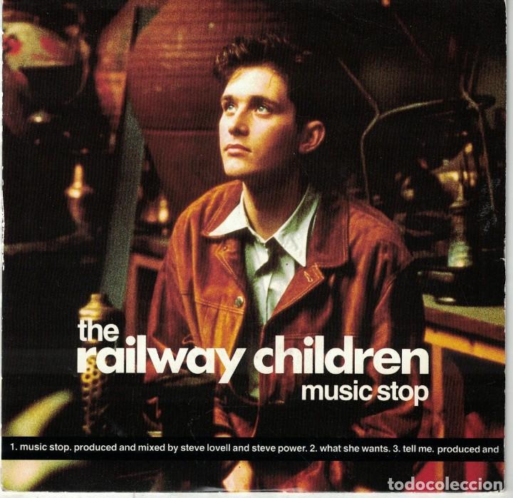 THE RAILWAY CHILDREN - MUSIC STOP / WHAT SHE WANTS / TELL ME (SINGLE INGLES, VIRGIN 1990) (Música - Discos de Vinilo - Singles - Pop - Rock Extranjero de los 80)