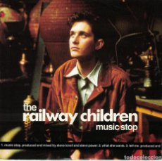 Disques de vinyle: THE RAILWAY CHILDREN - MUSIC STOP / WHAT SHE WANTS / TELL ME (SINGLE INGLES, VIRGIN 1990). Lote 113133683