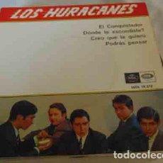 Discos de vinilo: LOS HURACANES - EL CONQUISTADOR + 3 EP. Lote 113143883