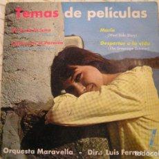 Discos de vinilo: ORQUESTA MARAVELLA - TEMAS DE PELICULA - ZAFIRO 1962 - SINGLE - P -. Lote 113150875