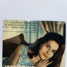 Discos de vinilo: EP * JACQUELINE BOYER * D'AUTRES AVANT TOI * COVER/ NEAR MINT * EP/ EXCELLENT * 1963 * INENCONTRABLE. Lote 113163819