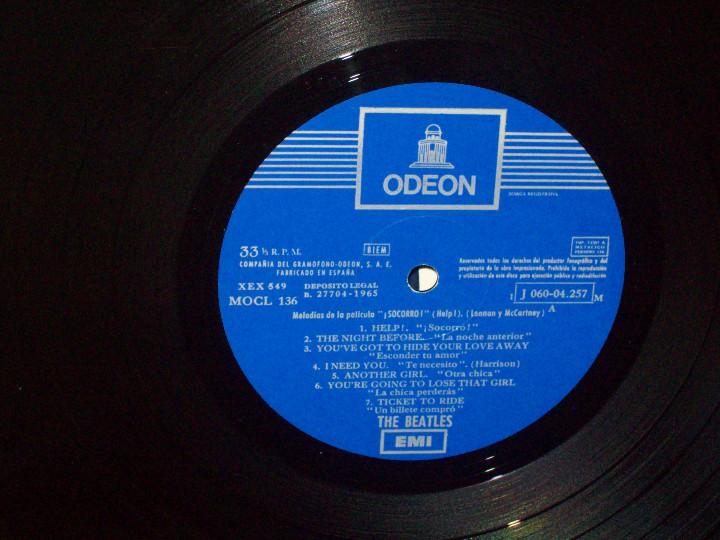 Discos de vinilo: 042 - THE BEATLES - HELP - LP 1965 - Foto 3 - 112975903