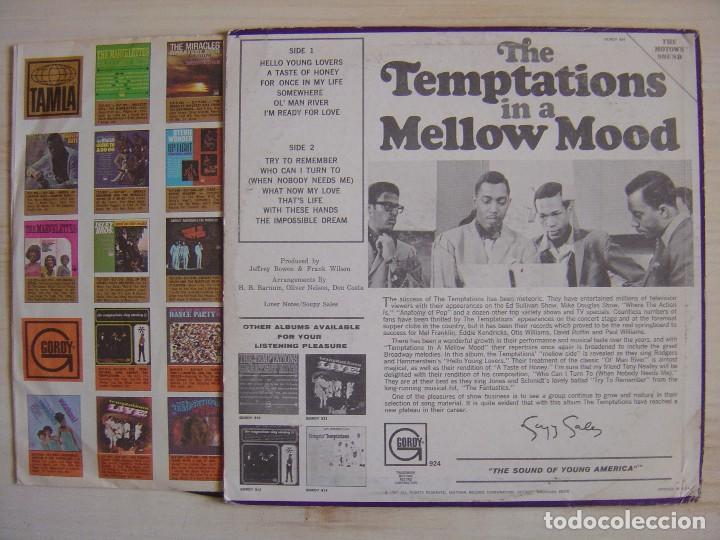 Discos de vinilo: THE TEMPTATIONS - In a mellow mood - LP USA 1967 - GORDY - Foto 2 - 113167095