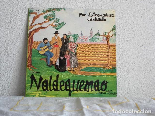 VALDEQUEMAO-LP POR EXTREMADURA, CANTANDO (Música - Discos de Vinilo - EPs - Étnicas y Músicas del Mundo)