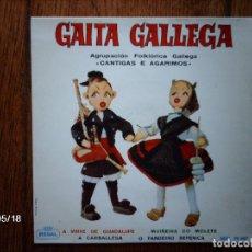 Discos de vinilo: AGRUPACION FOLKLORICA GALLEGA - CANTIGAS E AGARIMOS - A VIRXE DE GUADALUPE + MUÑEIRA DO MOLETE + 2. Lote 113174843