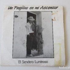 Discos de vinilo: UN PINGÜINO EN MI ASCENSOR EL SENDERO LUMINOSO/ MI CAFÉ DRO PROMO 1988. Lote 113209359