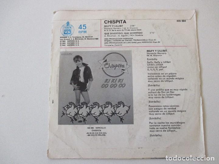 Discos de vinilo: Chispita BSO Belfy y Lillibit +1 Hispavox 1983 - Foto 2 - 113210147