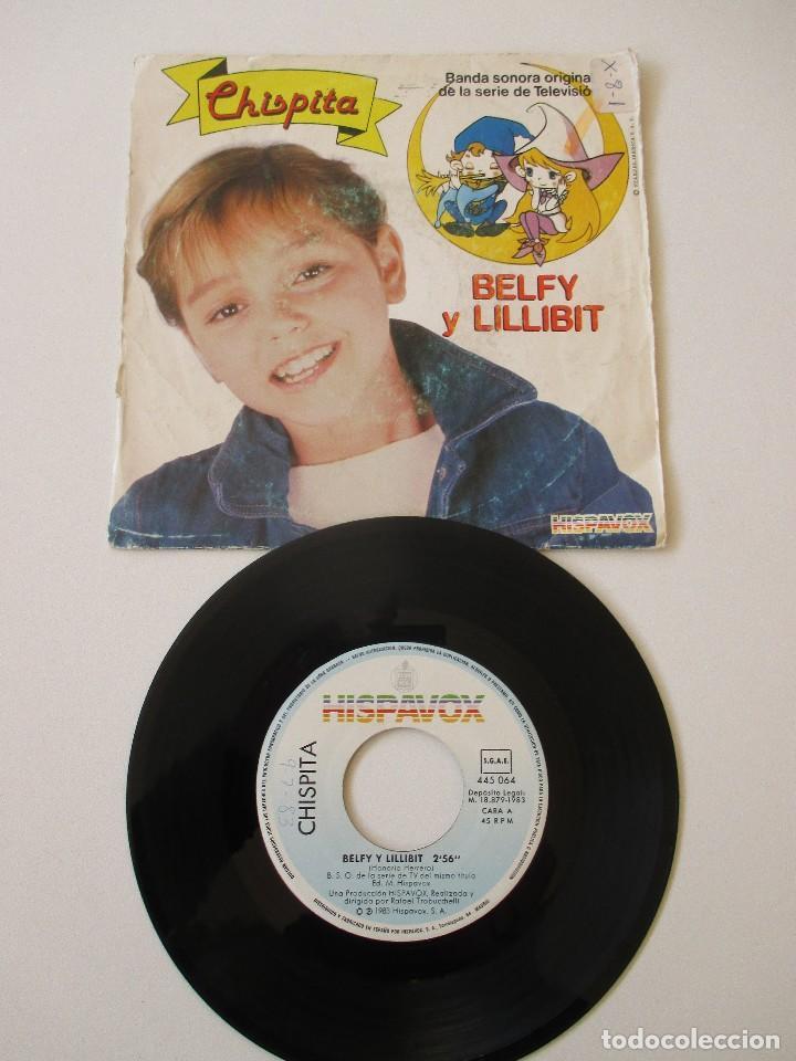 Discos de vinilo: Chispita BSO Belfy y Lillibit +1 Hispavox 1983 - Foto 3 - 113210147