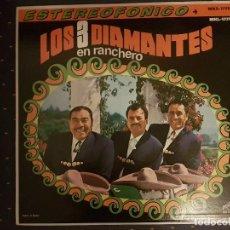Discos de vinilo: LOS 3 DIAMANTES EN RANCHERO. Lote 113213375