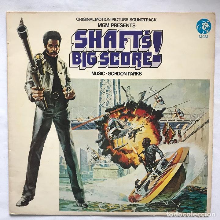 UK 1971 MUY DIFÍCIL —-GORDON PARKS – SHAFT'S BIG SCORE! ( 1RA EDICION ) NO OFICIAL ( SELLÓ STAX) (Música - Discos - LP Vinilo - Funk, Soul y Black Music)