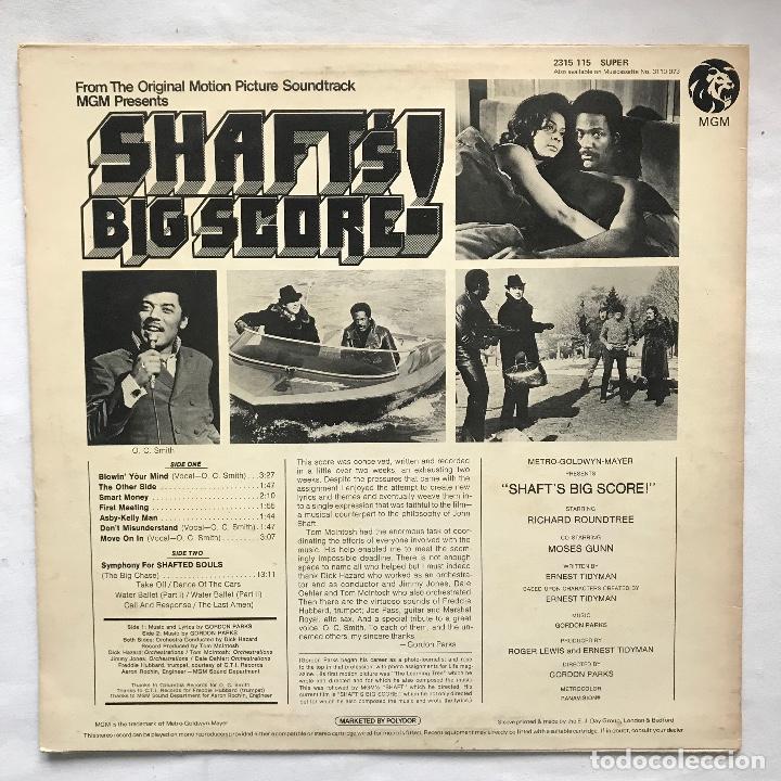 Discos de vinilo: UK 1971 Muy difícil —-Gordon Parks – Shaft's Big Score! ( 1RA EDICION ) no oficial ( selló stax) - Foto 2 - 113215695