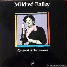 Discos de vinilo: MILDRED BAILEY * LP SPAIN PORTADA EXCLUSIVA1988 * – GREATEST PERFORMANCES * SIN PINCHAR. Lote 113215863