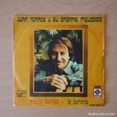 Discos de vinilo: JUAN TORRES Y SU ORGANO MELÓDICO 1975 MARÍA BONITA / LA LLORONA - SINGLE ZAFIRO / MUSART. Lote 113232183