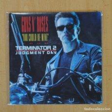 Discos de vinilo: GUNS N´ ROSES - TERMINATOR II B.S.O. - YOU COULD BE MINE / CIVIL WAR - SINGLE. Lote 113247454