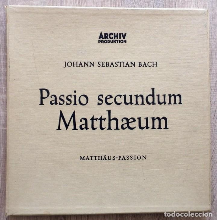 JOHANN SEBASTIAN BACH PASSIO SECUNDUM MATTHAEUM (4 LP BOX SET) AÑO 1958 (Música - Discos - LP Vinilo - Clásica, Ópera, Zarzuela y Marchas)