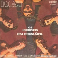 Discos de vinilo: OS INCREIVEIS EN ESPAÑOL; QUE COSA LINDA + EL VENDEDOR DE BANANAS. Lote 113249235