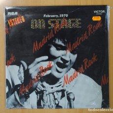 Discos de vinilo: ELVIS PRESLEY - ON STAGE FEBRUARY 1970 - LP. Lote 113249771