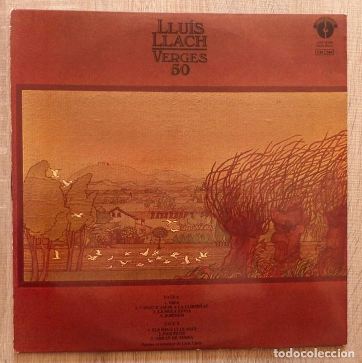 Discos de vinilo: LLUIS LLACH ¨VERGES 50¨ - Foto 2 - 113255355