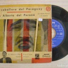 Discos de vinilo: LUIS ALBERTO DEL PARANA - ESTE CABALLERO DEL PARAGUAY - EP ESPAÑOL 1958 - PHILIPS. Lote 113260903