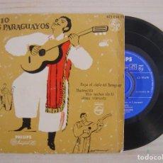 Discos de vinilo: TRIO LOS PARAGUAYOS - BAJO EL CIELO DE PRAGUAY - EP ESPAÑOL - PHILIPS. Lote 113261467