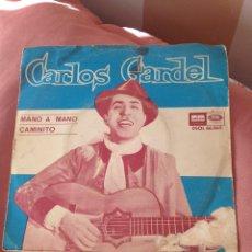 Discos de vinilo: CARLOS GARDEL 3 SINGLES VARIOS TITULOS. Lote 113262282