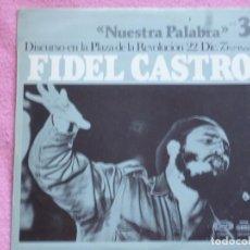 Discos de vinilo: FIDEL CASTRO,DISCURSO EN LA PLAZA DE LA REVOLUCION 22 DIC.DEL 77. Lote 113265535