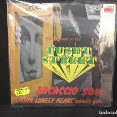 Discos de vinilo: BOCACCIO SOUL - THIS LONELY HEART - SINGLE BSO TUSET STREET / AUGUSTO ALGUERO. Lote 113265543