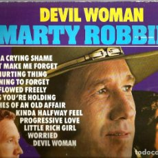 Discos de vinilo: LP MARTY ROBBINS : DEVIL WOMAN ( COUNTRY & WESTERN MUSIC ). Lote 113274715