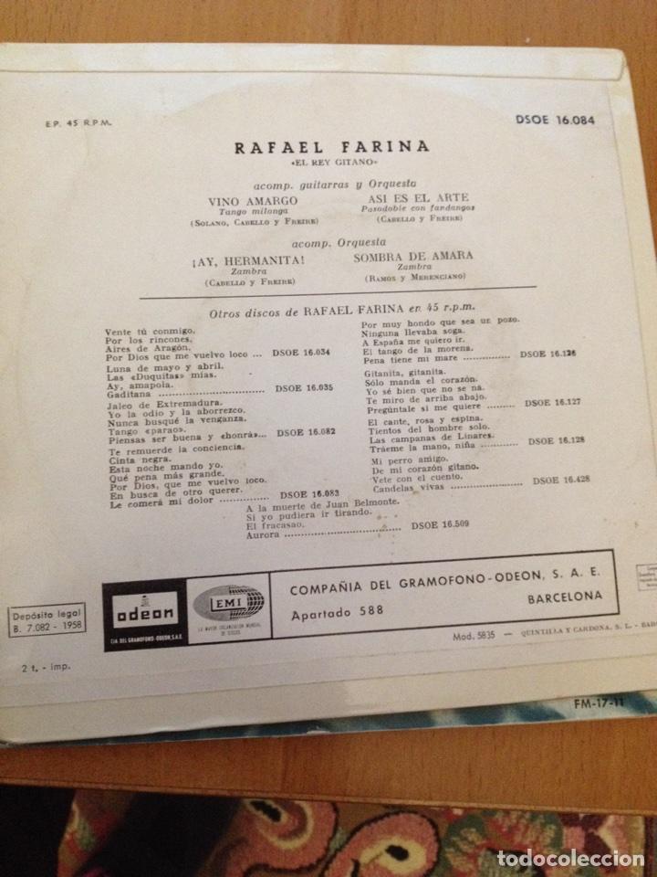 Discos de vinilo: Rafael Farina sinc - Foto 2 - 113275324
