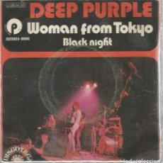 Discos de vinilo: SG DEEP PURPLE : WOMAN FROM TOKYO . Lote 113297091