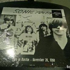 Discos de vinilo: MUSICA LP: SONIC YOUTH LIVE IN AUSTIN 1988 PRECINTADO VINYL FNC. Lote 113297843