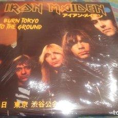 Discos de vinilo: IRON MAIDEN. -BURN TOKYO TO THE GROUND - 3 LPS. Lote 113304203