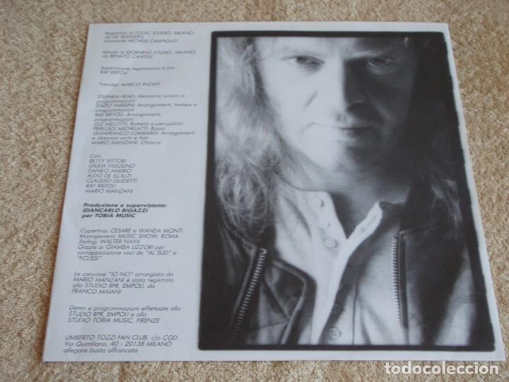 Discos de vinilo: UMBERTO TOZZI ( INVISIBILE ) 1987 - FINLANDIA LP33 CGD - Foto 3 - 113312951