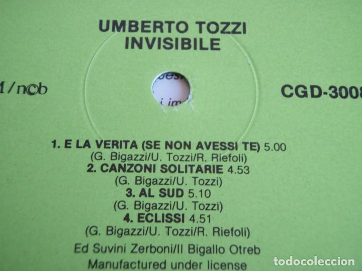 Discos de vinilo: UMBERTO TOZZI ( INVISIBILE ) 1987 - FINLANDIA LP33 CGD - Foto 5 - 113312951