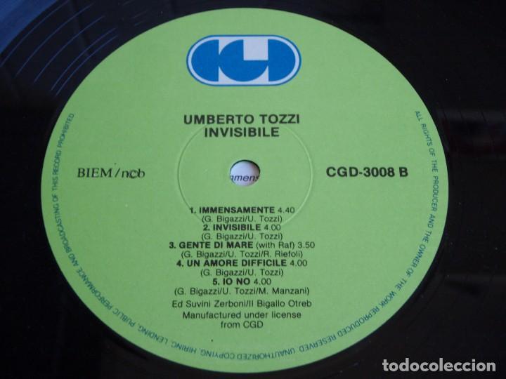 Discos de vinilo: UMBERTO TOZZI ( INVISIBILE ) 1987 - FINLANDIA LP33 CGD - Foto 7 - 113312951